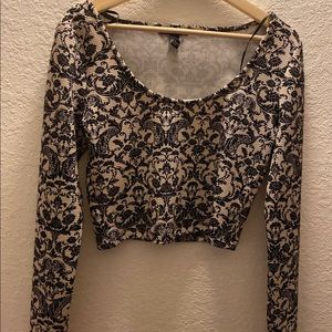 Long Sleeve Crop Top from Forever 21